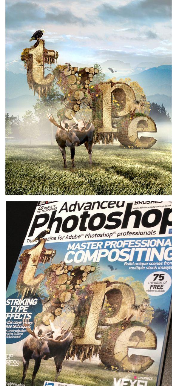 Advanced Photoshop Magazine Cover by Barton Damer, via Behance