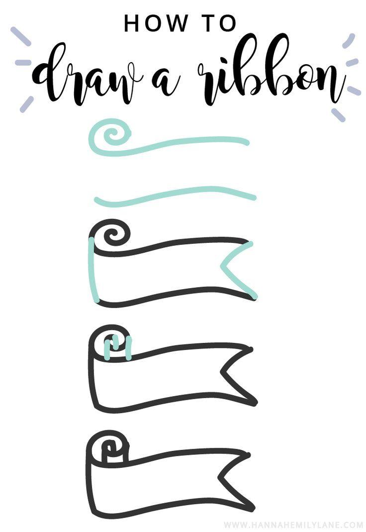 Bullet Journal Ribbon Inspiration and Tutorials | http://www.hannahemilylane.com
