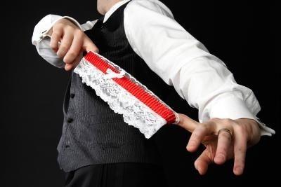 "Alternatives to garter toss. I like ""toss the little black book that he won't be needing anymore"" hahaha"