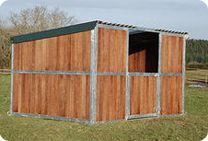 Our field shelters either have a flush roof line or an overhang to further protect your horses from inclement weather.Our field shelter fronts have central positioned openings of either 5′ or 6′. An optional door is available for both widths.