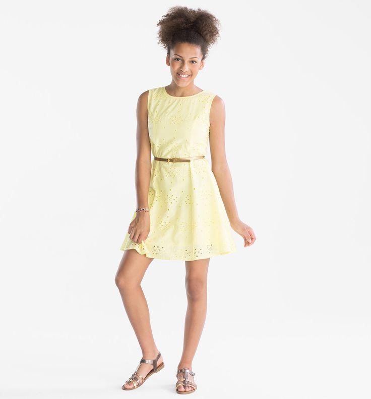 Sklep internetowy C&A | Suknia z paskiem, kolor:  żółty | Dobra jakość w niskiej cenie