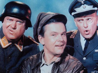 John Banner, Bob Crane, and Werner Klemperer (Col. Klink).  Amazing stars of TV. I never missed a show!