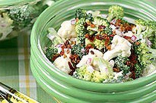Salade piquante au brocoli et au chou-fleur