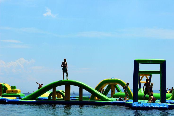 Bol, Croatia. Aqua park for us brave people.