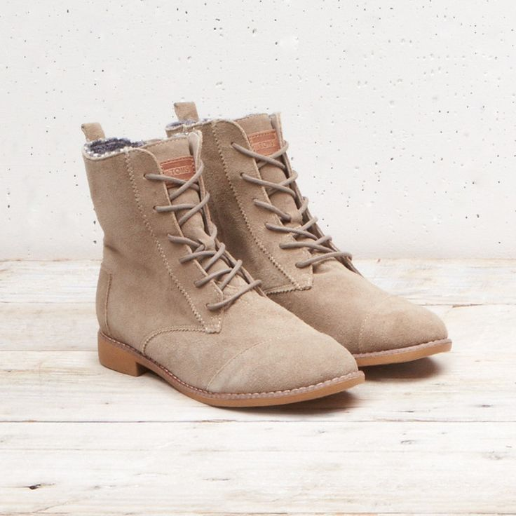 TOMS Taupe Suede Alpa boots. An effortless style that's easy on the eyes.