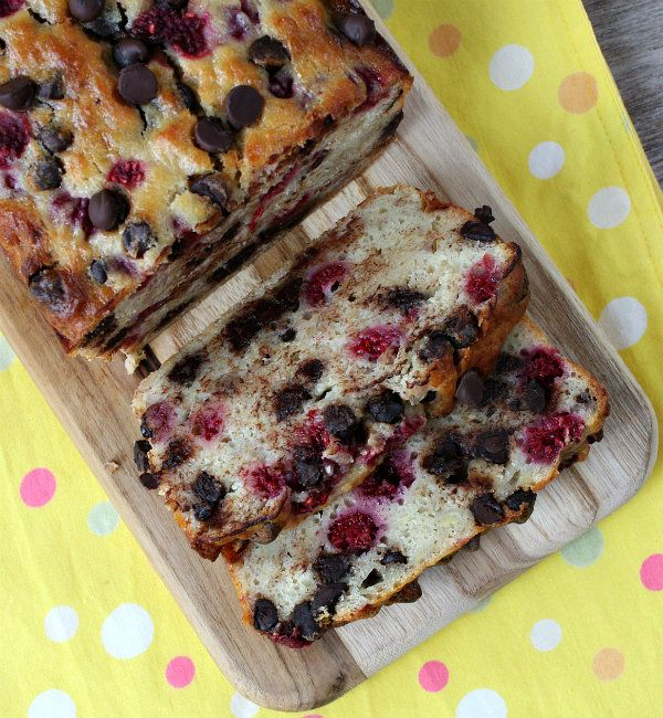 Dark Chocolate Raspberry Banana Bread!!!!!!!!!