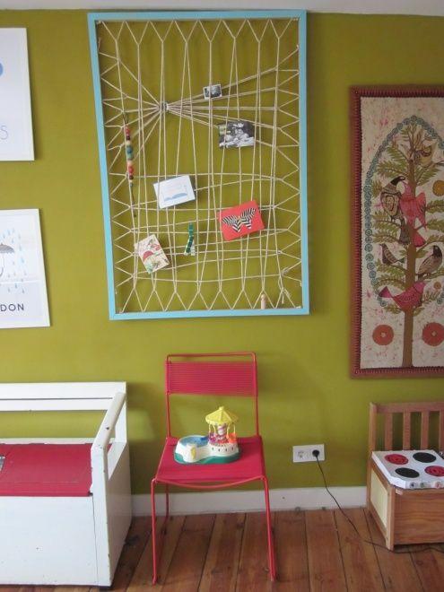 DIY Makrameewand, Tags DIY + Kinderzimmer + Pinnwand + Wandgestaltung + Makramee