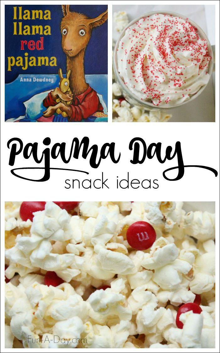 Simple snack ideas for a Llama Llama Red Pajama Day