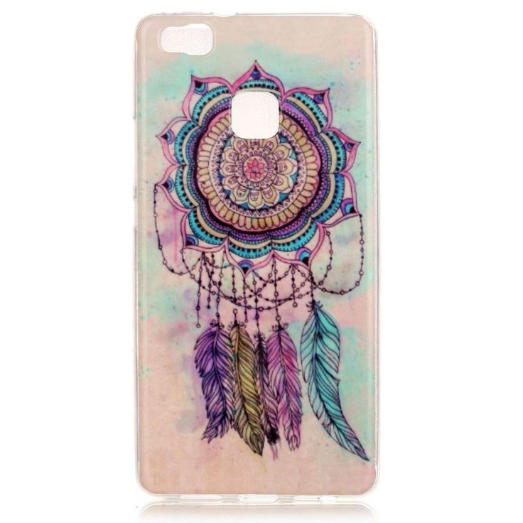 "For Huawei P9 Lite Case , ivencase Dream Catcher Flexible Soft TPU Slim Silicone Cover for Huawei P9 Lite 5.2"" + One ""ivencase"" Anti-dust Plug Stopper"