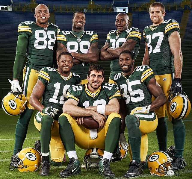 Rodgers and his 6 (soon to be 4) amazing receivers.