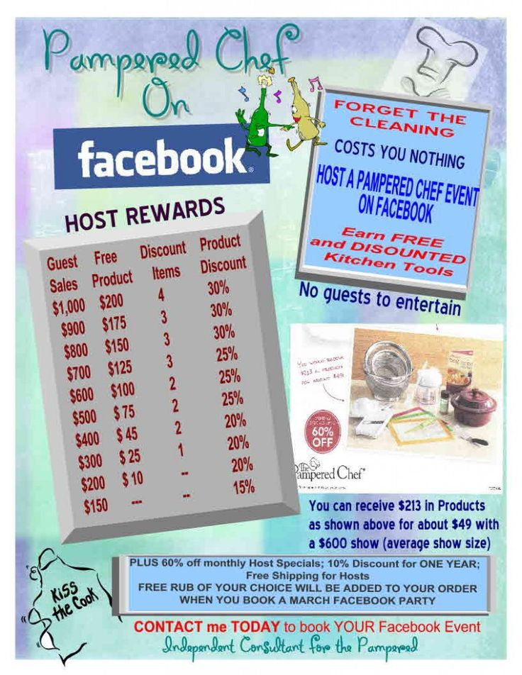 Host a Pampered Chef Catalog or Facebook Party