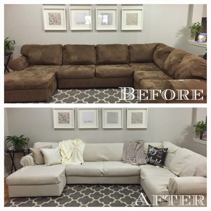 Diy Sectional Sofa Cover Living Room Pinterest Sofa Covers