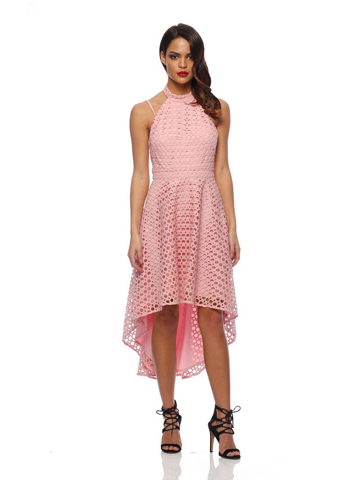 Romance The Label - Valentina Halter Dress Soft Pink