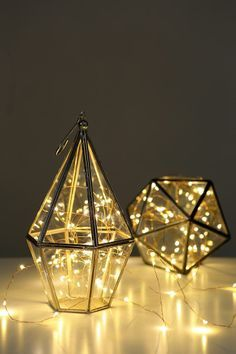 geometric terrarium fairy lights - Google Search