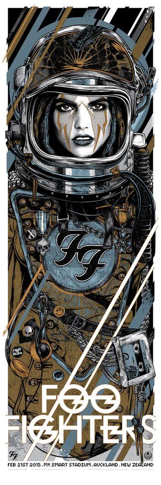Studio Seppuku - The Art of Rhys Cooper — FOO FIGHTERS - 2015 TOUR - ROCKET GIRL - NZ