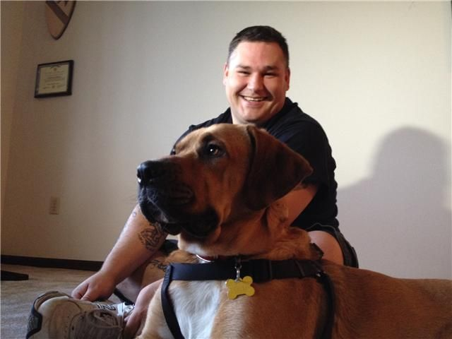 Veteran reunites with lost service dog