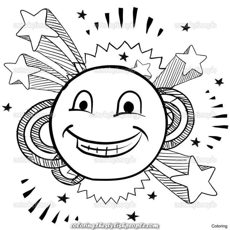 Printable Coloring Pages Emoji Concept