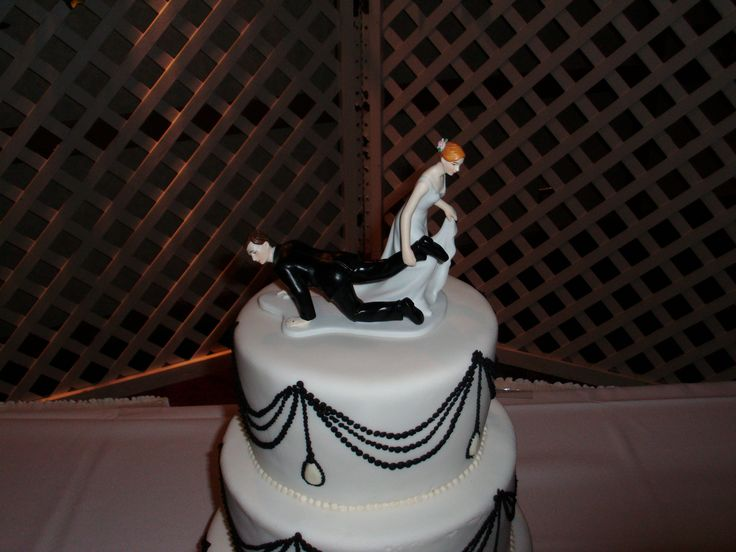 Love this wedding cake top from my son`s wedding