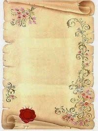 Pergaminos: Invitaciones, Fondos o Tarjetas para Imprimir Gratis.