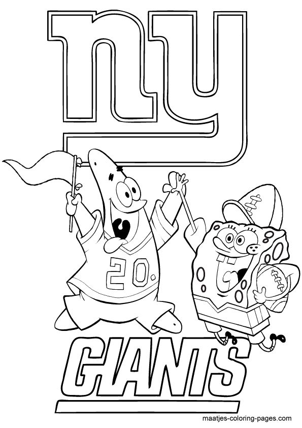 nfl coloring pages for kid - photo#9