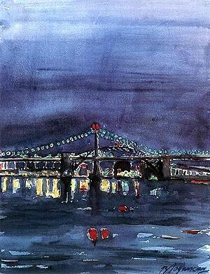 Burhan Doğançay,Bridge in NYC
