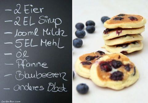 Mini-Blaubeer-Pfannkuchen