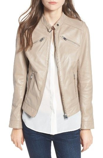 Free shipping and returns on LAMARQUE Leighton Stitch Detail Lambskin Leather Jacket (Online Only) at Nordstrom.com. Channel stitching at the shoulders and sides, along with plenty of zip details, brings tough moto style to a luxuriously soft lambskin-leather jacket in a slim, fitted cut.