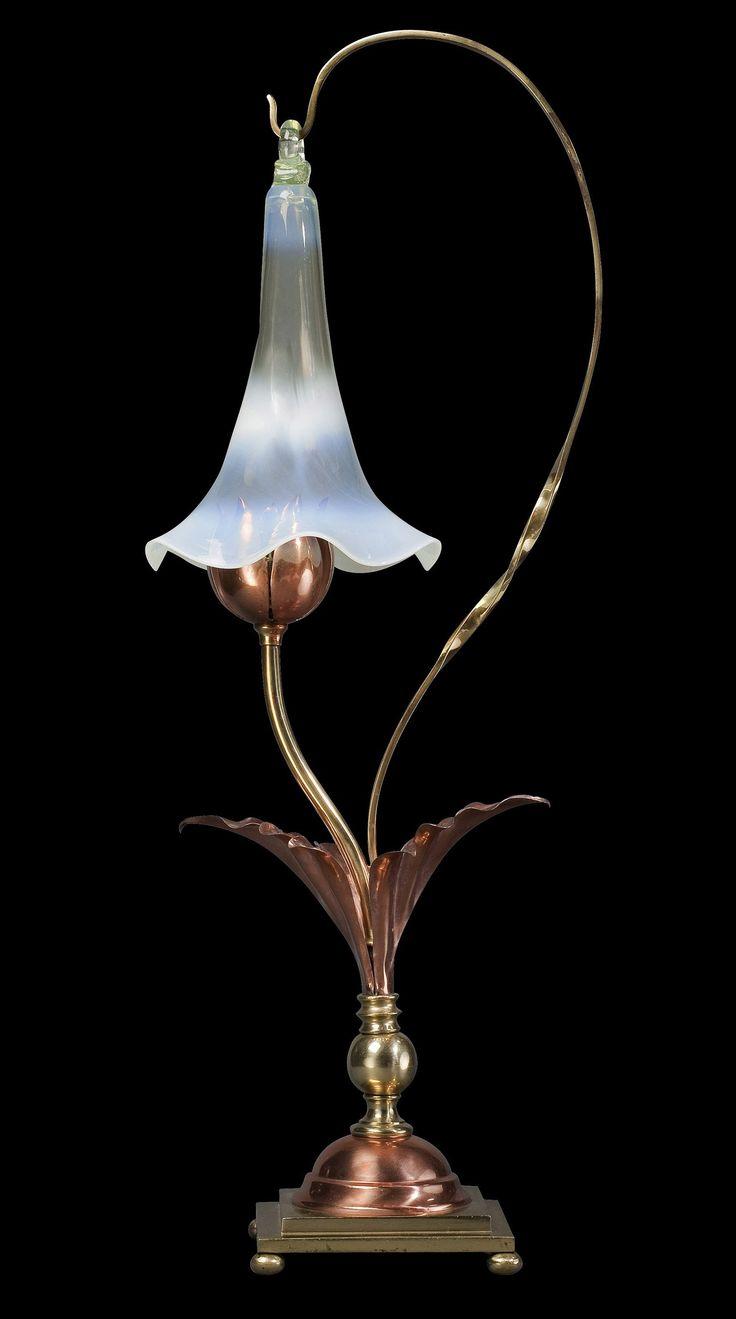 William arthur smith benson smoke bell lamp ca 1895 for Table lamp wikipedia