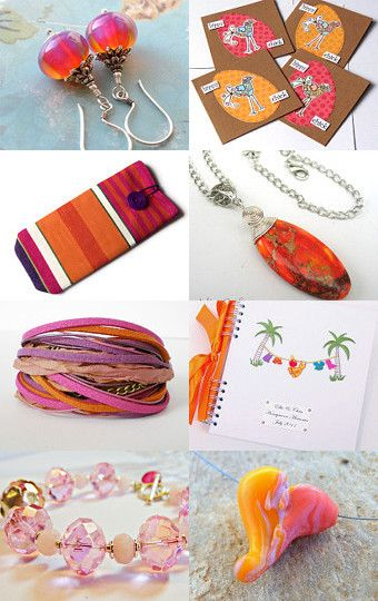 Pink and Orange Sunset by Carolyn Ford on Etsy--Pinned with TreasuryPin.com