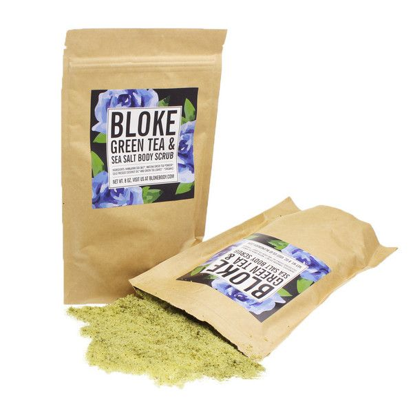 Bloke Green Tea and Sea Salt Scrub is filled with organic exfoliants and skin-soothing green tea that gently fights blemishes and reduces redness and irritation caused by acne and other skin conditions. The result is clear and calm skin. Himalayan Sea Salt gets rid of dead skin cells, allowing the healthy skin below to glow. Cold-pressed coconut oil helps to keep your skin supple and hydrated, so there is plenty in each mix. #greenteascrub #teascrub #scrub