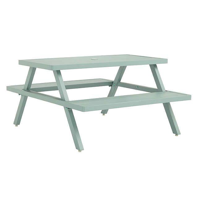 BuyJohn Lewis Aluminium Picnic Bench, Sage Online at johnlewis.com