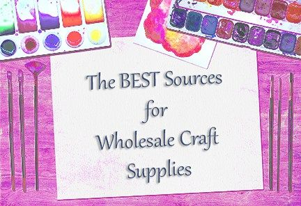 best places for wholesale craft supplies