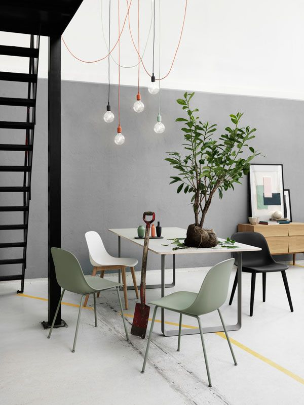 Muuto New Nordic dining style, contemporary Scandinavian dining room furniture