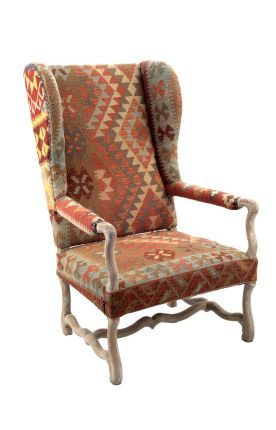 Rugs Usa Multi Country Style High Back Wool Uphostered Armchair Rugs Usa Autumn Sale 70 Off