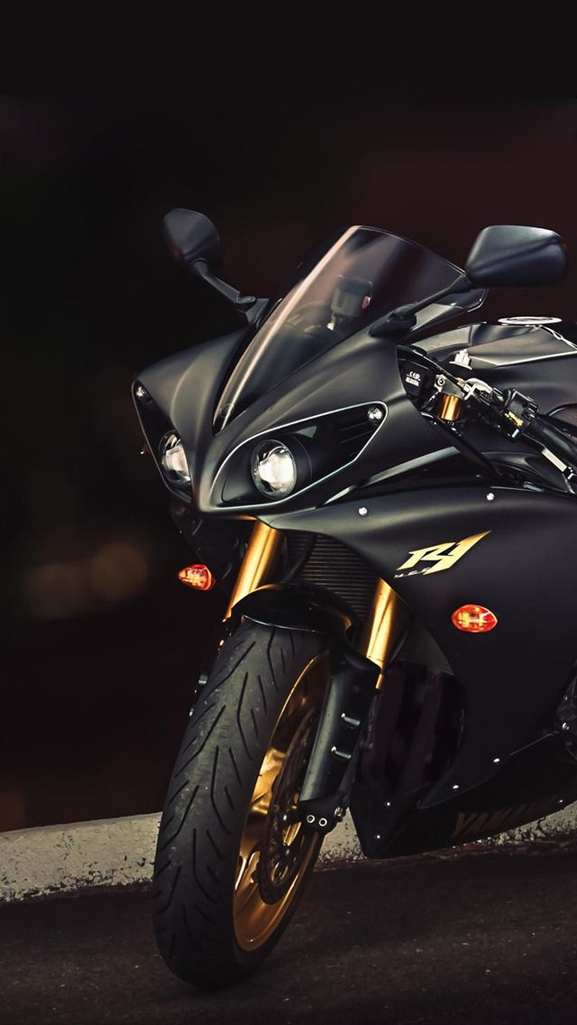 Hd Iphone 5 Retina Optimized Wallpapers For Your Iphone Now With Parallax Motorcycle Wallpaper Yamaha Yzf R1 Sports Bikes Motorcycles Black motorcycle wallpaper hd