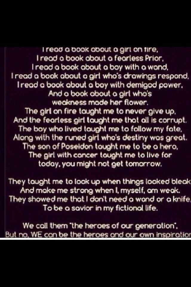 Book(THG, Divergent, HP, TMI, PJO/HOO, TFIOS)fandom poem