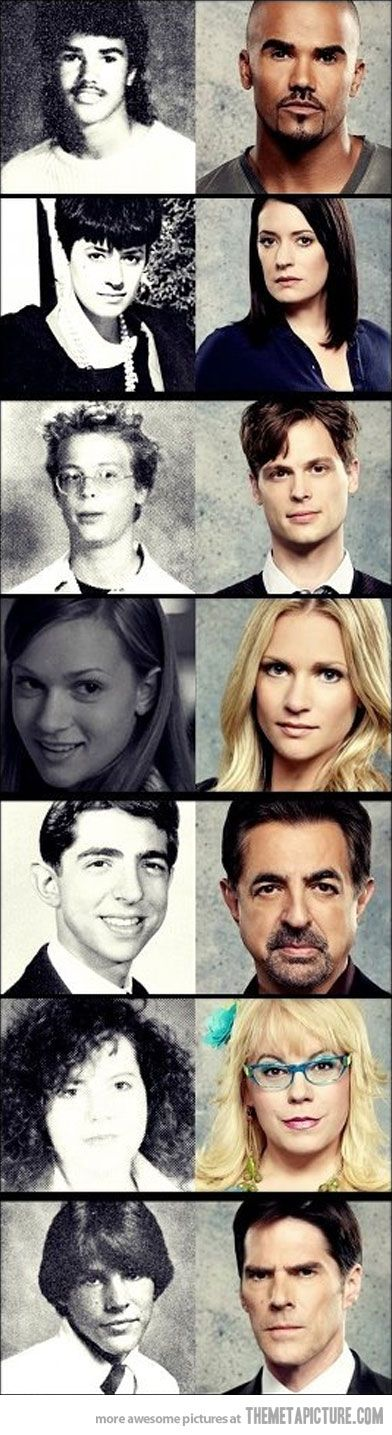 Criminal Minds cast back in the day @Gwyn Hill Seigel