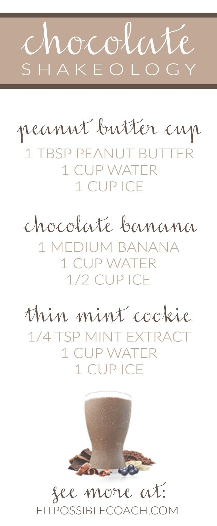 Chocolate Shakeology Recipes -- See more at http://fitpossiblecoach.com