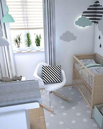grijs groene kinderkamer met grijze gordijnen en houten jaloezie jaloezieen gordijnen mrwoonraamdecoratie