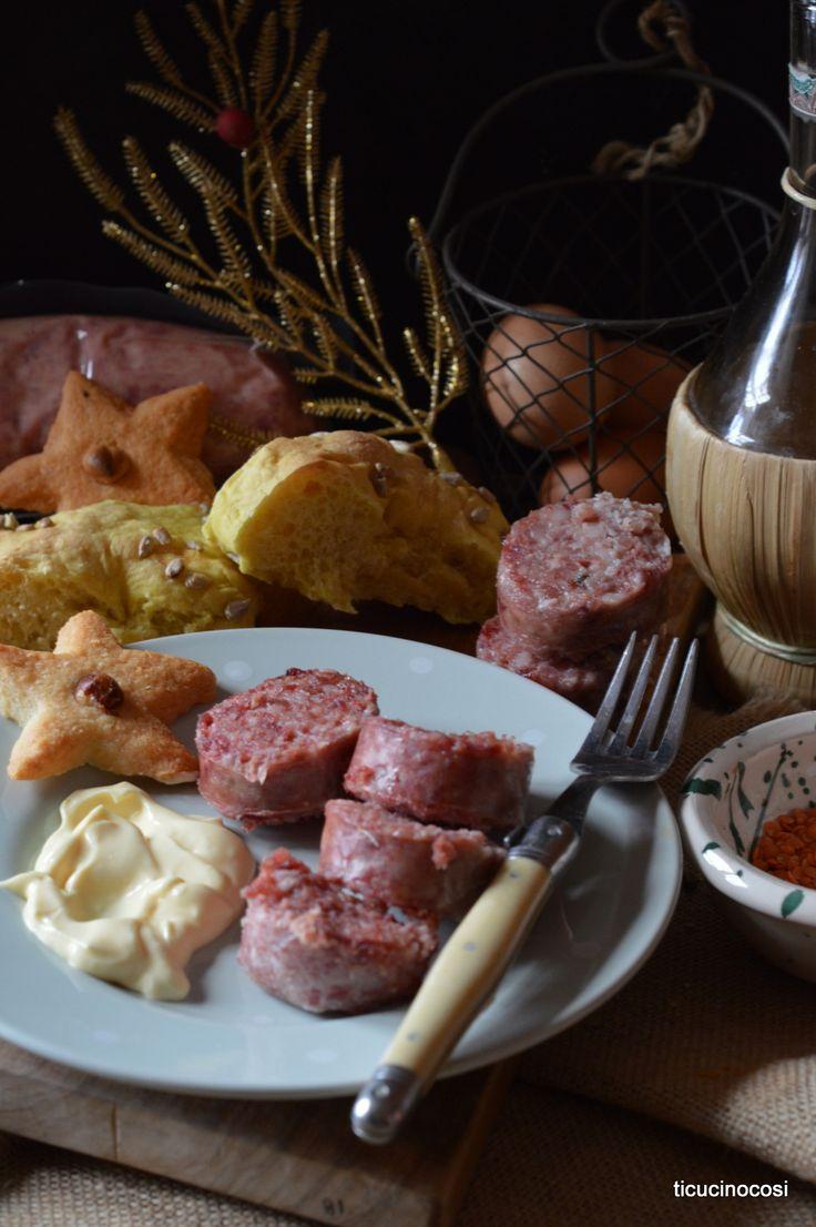 Italian cuisine: Cotechino con zabaione e aceto balsamico