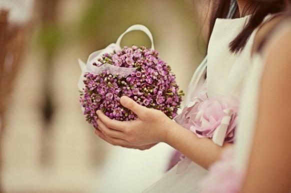 Such a delicate flower girl pomander.