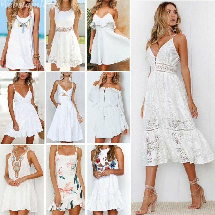 10 bester sommerkleider weiss in 2021 white dress fashion ulla