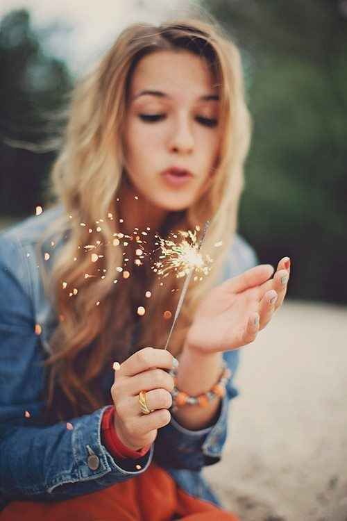 Light up a sparkler.