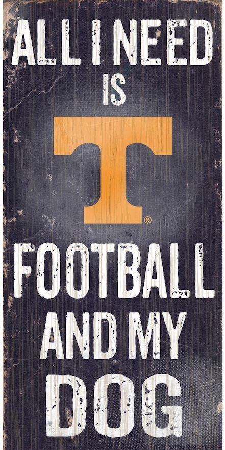 NCAA Tennessee Volunteers Football & My Dog Sign