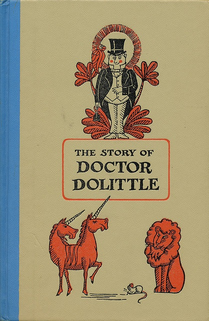 """The Story of Doctor Dolittle"". . this is an all time favorite of mine.  I read every one when I was in 3rd grade and my teacher, Mrs. McDonald, read them out loud to us first.  She was an amazing teacher!"