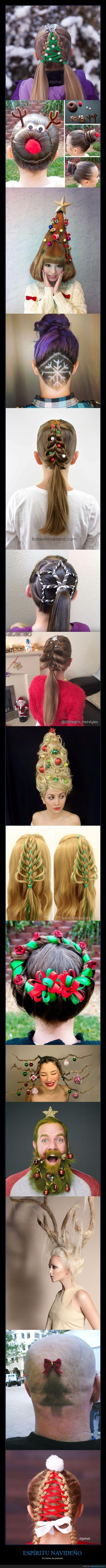 Espectacular colección de peinados navideños - En forma de peinado   Gracias a http://www.cuantarazon.com/   Si quieres leer la noticia completa visita: http://www.estoy-aburrido.com/espectacular-coleccion-de-peinados-navidenos-en-forma-de-peinado/