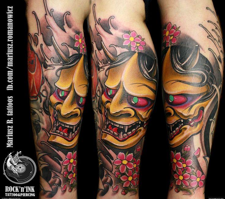 japanese sleeve oni tattoo google search tattoos pinterest sleeve leg tattoos and masks. Black Bedroom Furniture Sets. Home Design Ideas