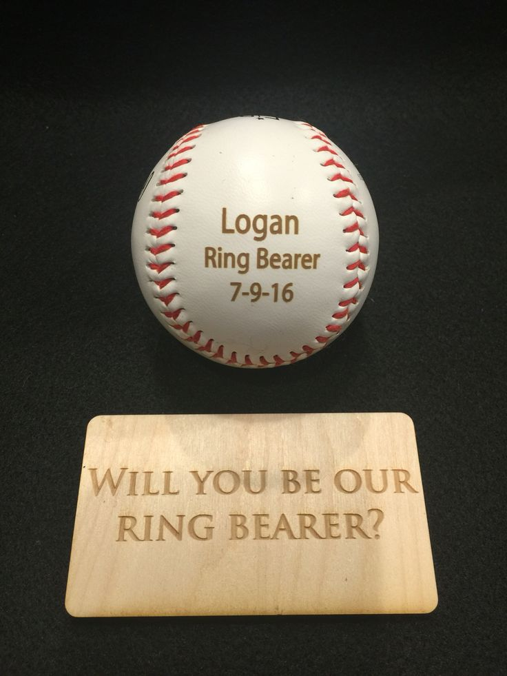 Adorable way to ask your ring bearer to be apart of the wedding! www.engravemymemories.com