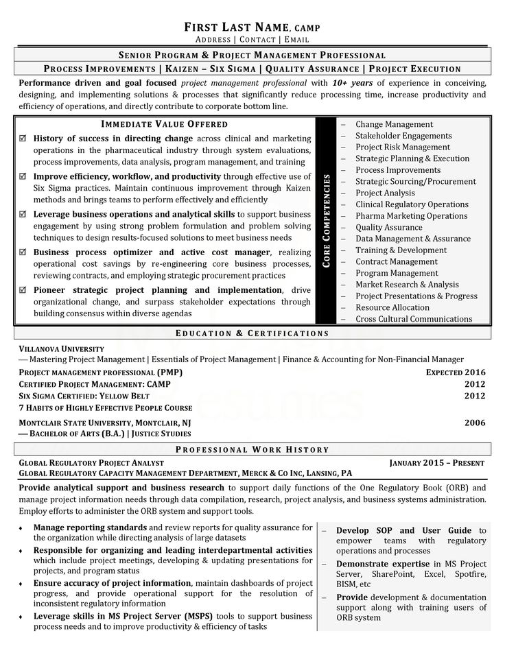 Sample Resume - Marketing \ Communications Sample Resumes - chief operating officer sample resume