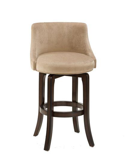 Hillsdale Furniture Napa Valley Swivel Bar Stool - Textured Khaki Fabric